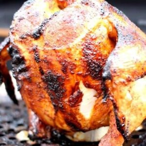 beer can chicken on roaster
