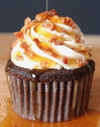 maple bacon cupake