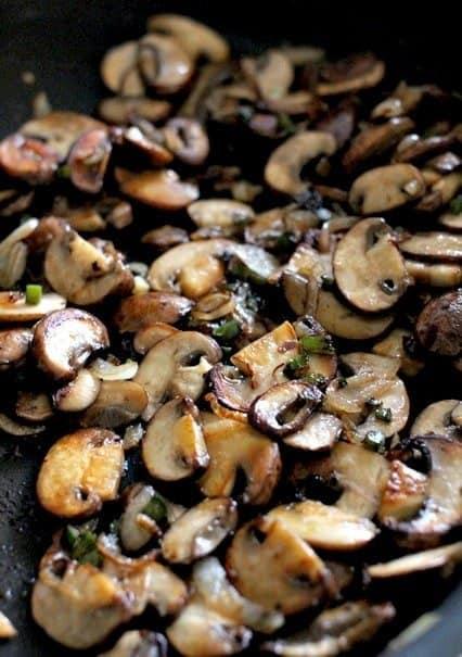 browned mushroom to go in mushroom rice recipe