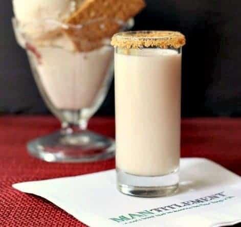 Hard Cider Ice Cream Shot combines ice cream and bourbon for a milkshake like shot