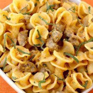 Pasta with Pumpkin Cream Sauce is a pasta recipe made with pumpkin cream sauce