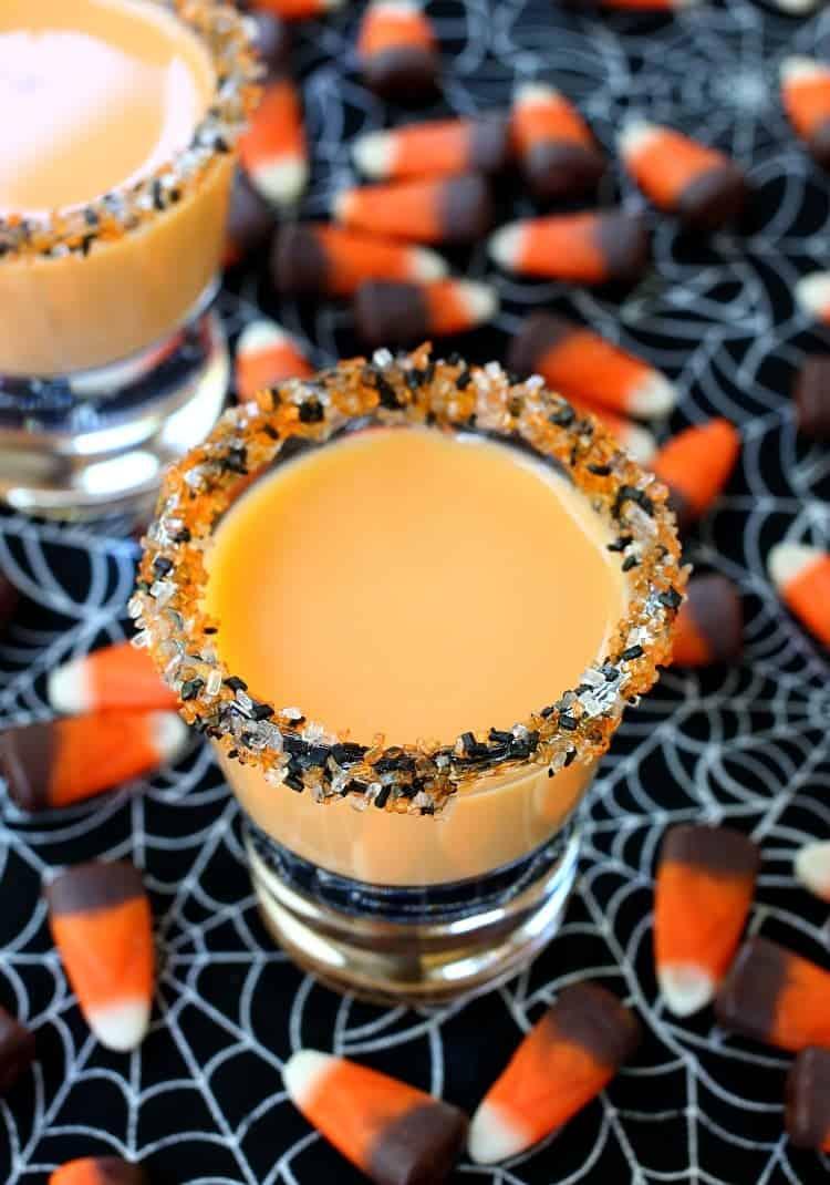 These Pumpkin Pie Shots are a sweet shot that tastes like pumpkin pie