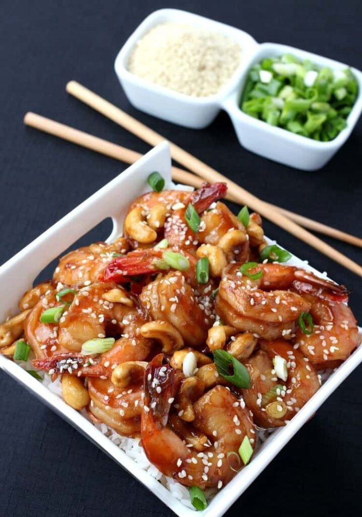 Quick Shrimp Stir Fry is a healthy shrimp stir fry that can be served with rice or noodles on the side