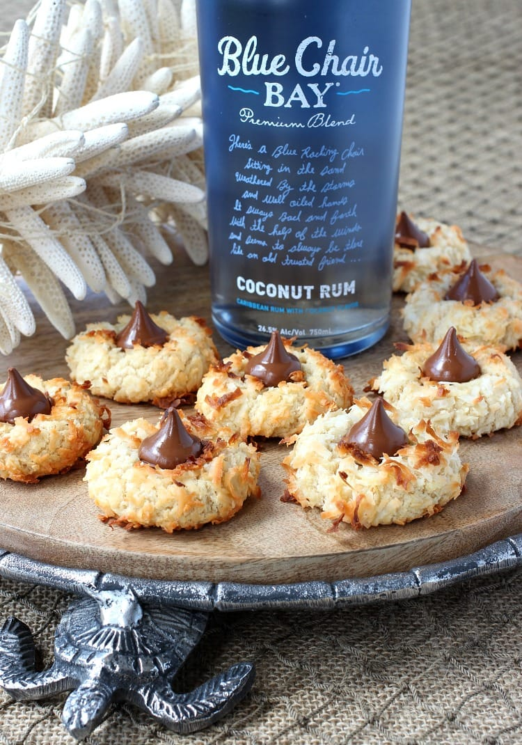Coconut Rum Cookies are a thumbprint cookie recipe with rum and chocolate