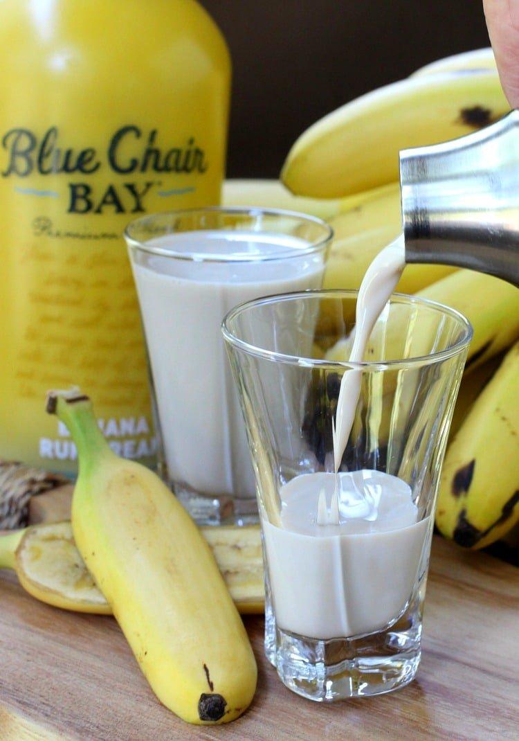 Bananas Foster Shots are dessert shots that taste just like the dessert