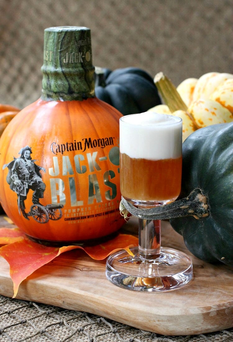 Jack-O-Blast Pumpkin Rum Shooters will get your Halloween party going!