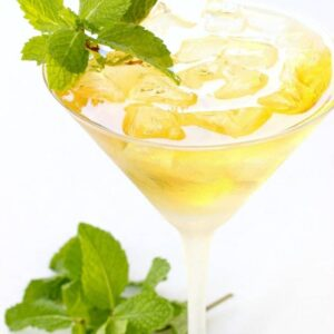 Minty Manhattan is a crisp, refreshing twist on the classic!
