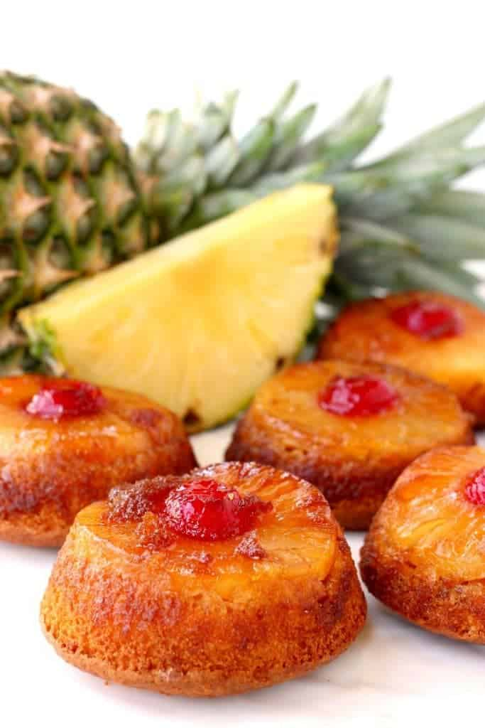 Pineapple Whiskey Upside Down Cakes are a fun, boozy dessert!