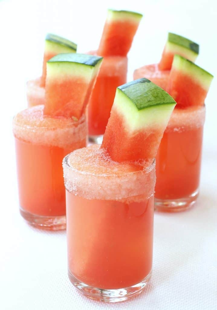 Cinco de Mayo Tequila Cocktails - Watermelon Margarita Shooters