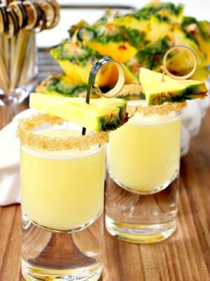 These Double Trouble Tropical Tequila Shots are the perfect party shot for Summer!