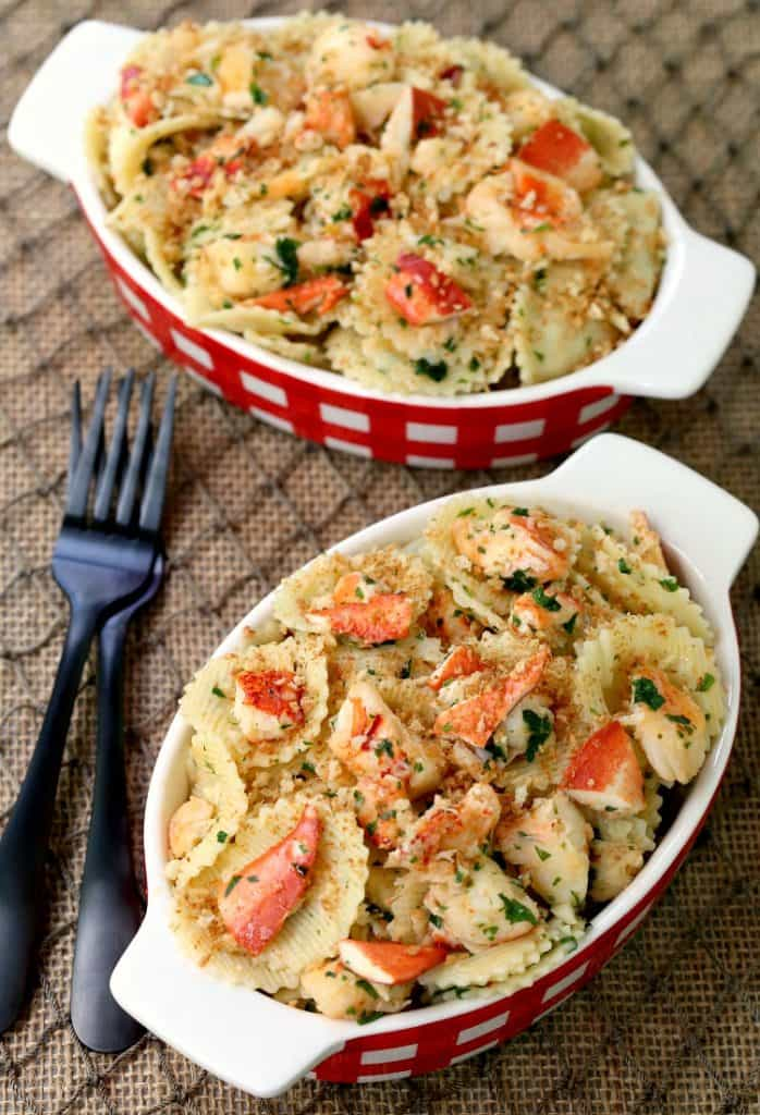 Brown Butter Lobster Roll Pasta is loaded with fresh lobster!