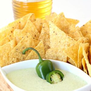Creamy Jalapeño Dip isn't as spicy as you think, it's perfectly creamy and totally addicting!
