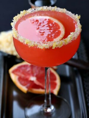 This Bourbon Grapefruit Sidecar has just the right amount of tangy grapefruit flavor!