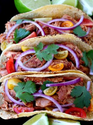 These Slow Cooker Turkey Mole Tacos from the top