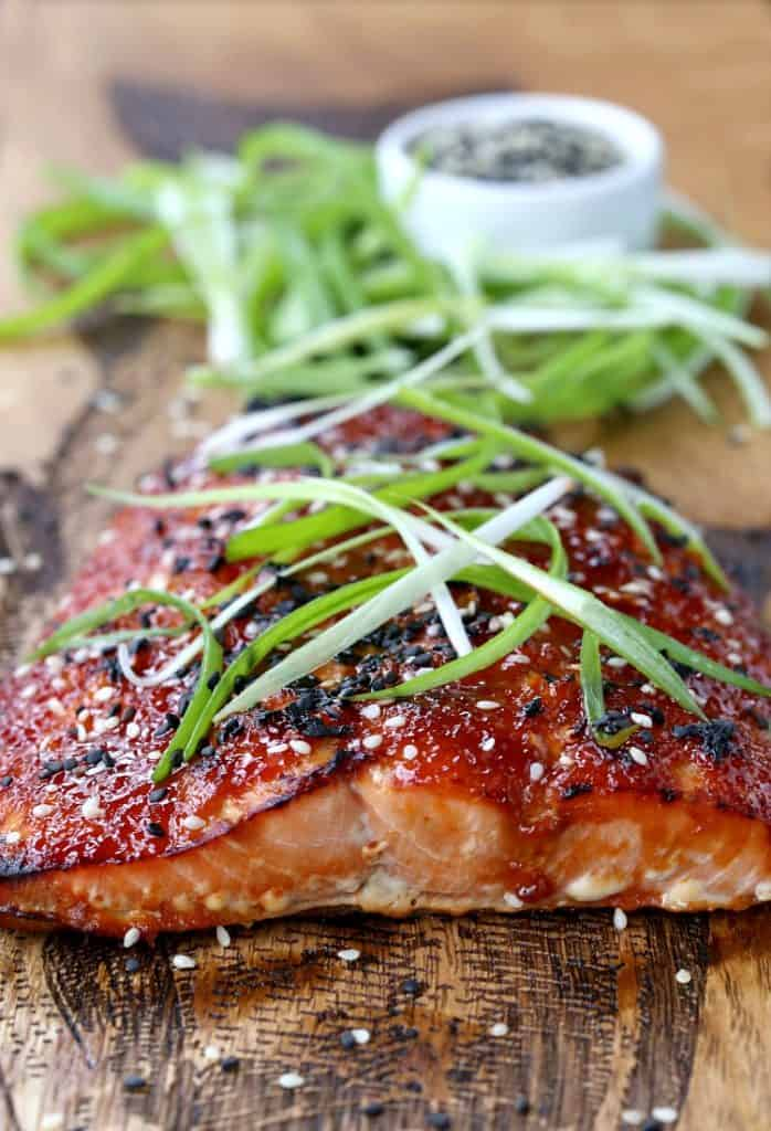 Baked Asian BBQ Salmon is an easy salmon recipe made in the oven