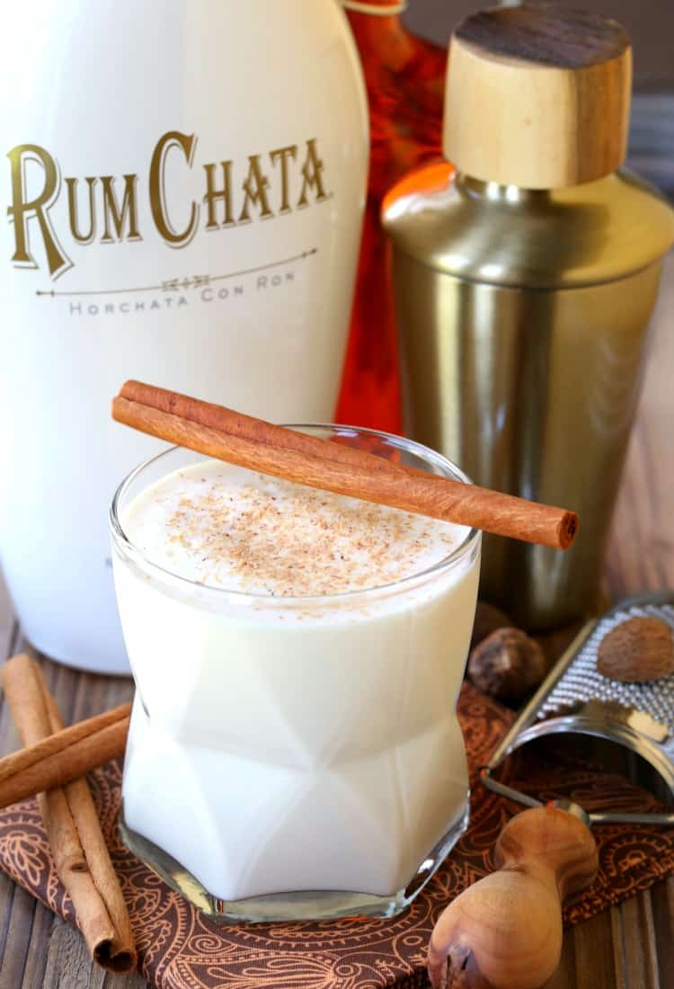 Campfire Milk Punch is a RumChata cocktail made with bourbon