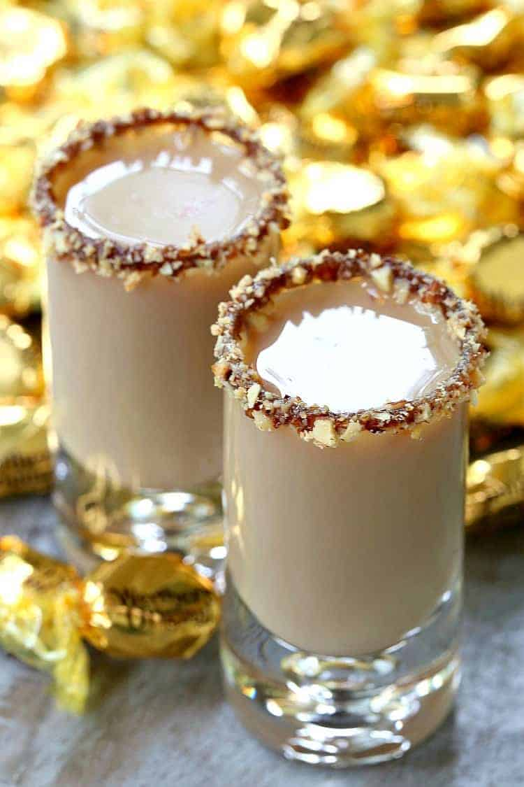 Chocolate Toffee Crunch Shot is a vodka, kahlua and baileys drink in a shot glass