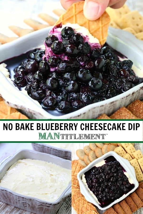 no bake dessert dip collage for pinterest