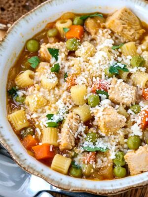 Leftover Turkey Noodle Soup is a leftover turkey recipe for a healthy soup dinner