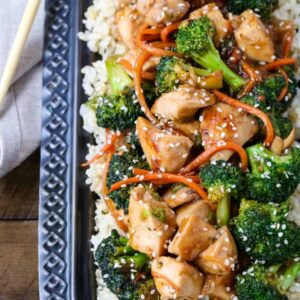 Rotisserie Chicken and Broccoli Stir Fry is an easy dinner recipe with chicken and broccoli