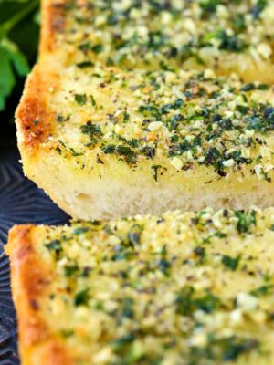 This Classic Garlic Bread Recipe has the perfect amount of butter and garlic