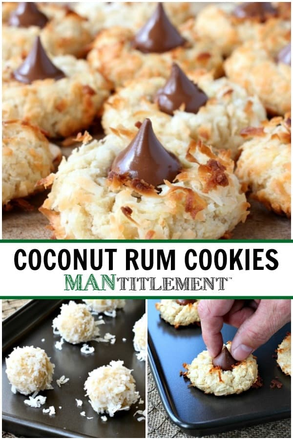 Coconut Rum Cookies are an easy cookie recipe